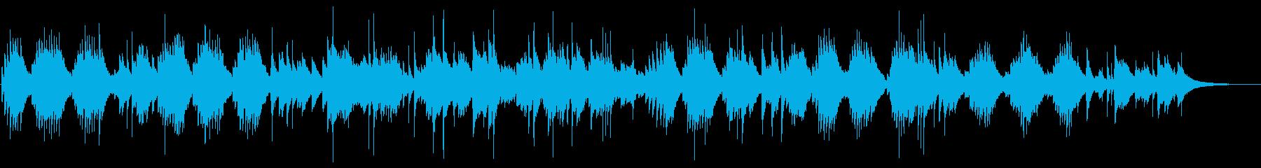心地よいピアノのバラードの再生済みの波形
