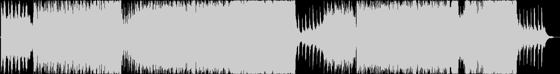 オーケストラとシンセサイザーの壮大BGMの未再生の波形