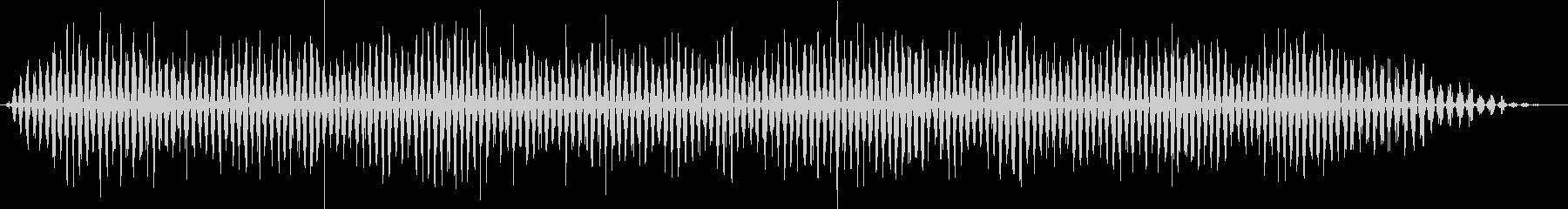 重機またはフライトエアフラッターの未再生の波形