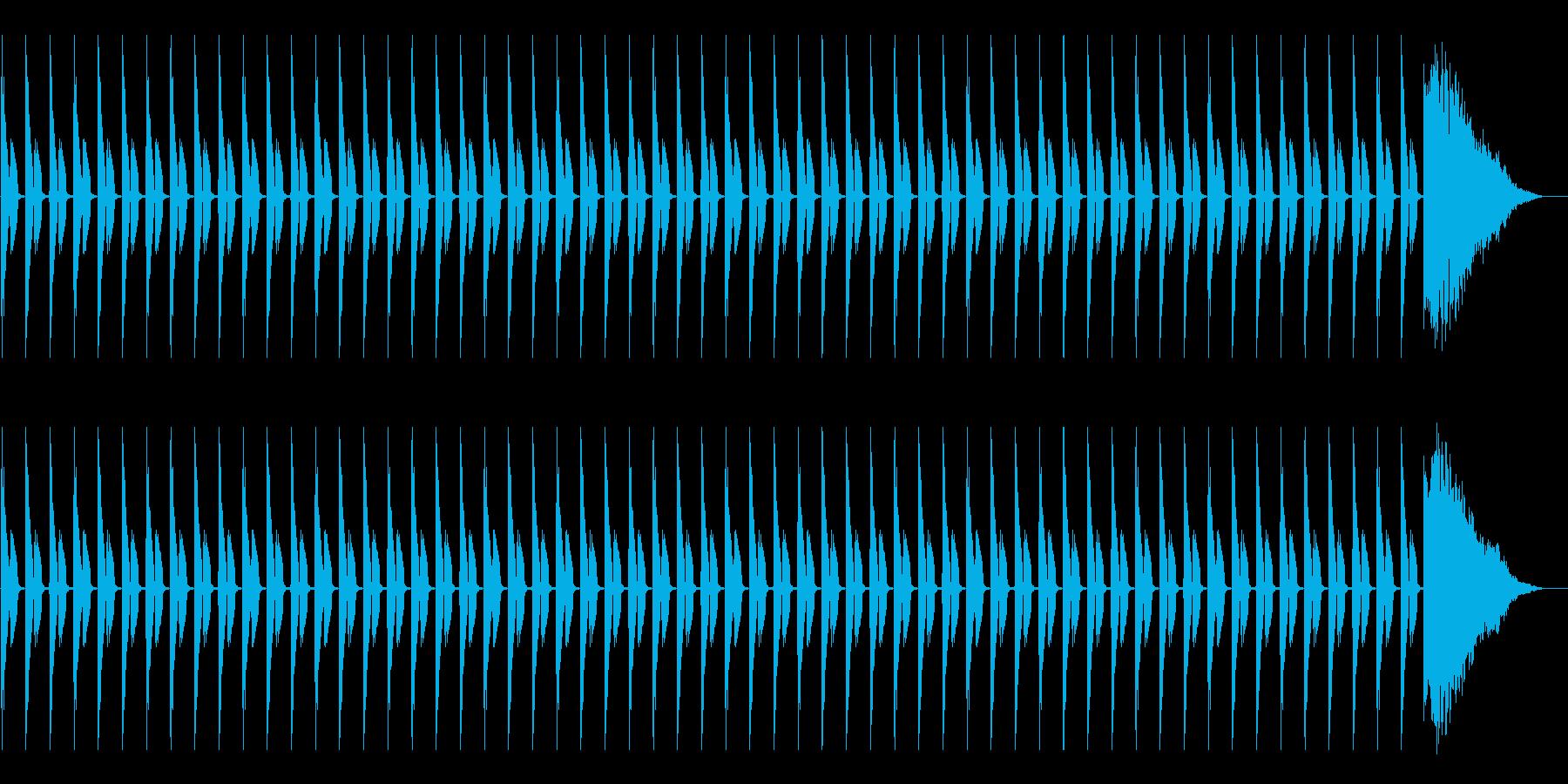 1分カウント3 (シンキングタイム用)の再生済みの波形