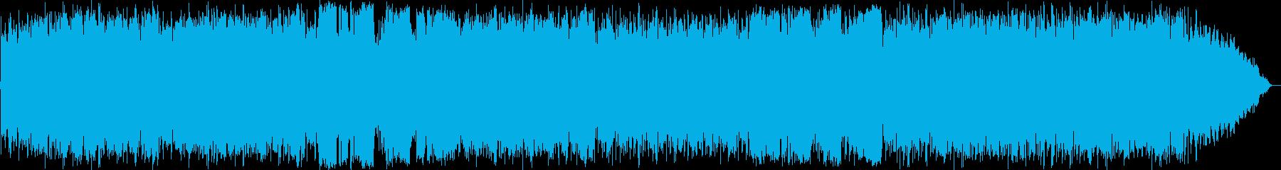 穏やかな自然のヒーリングミュージックの再生済みの波形