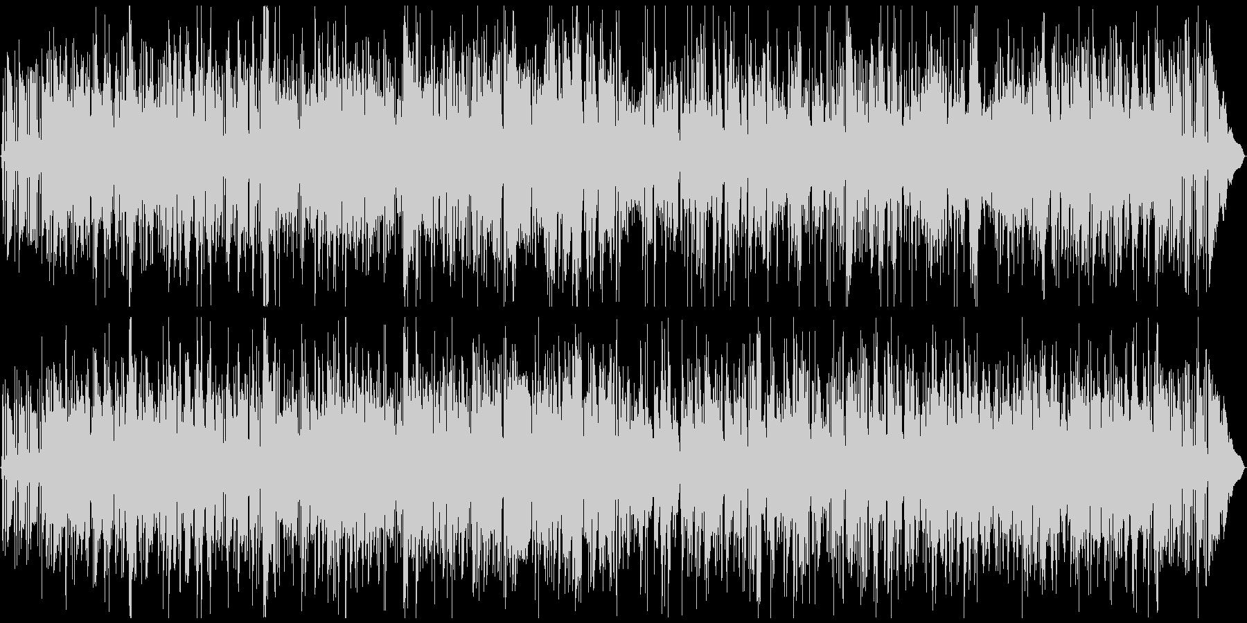 テナーサックスとギターのジャズBGMの未再生の波形