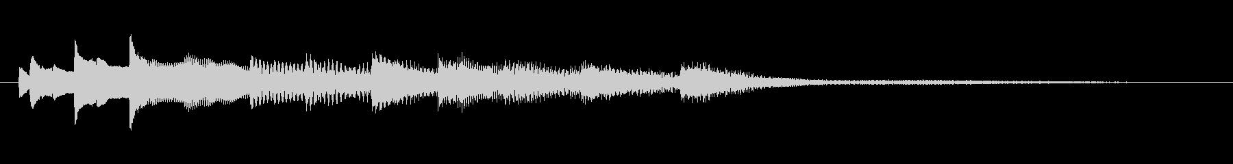 ピアノによるアンビエント音の未再生の波形