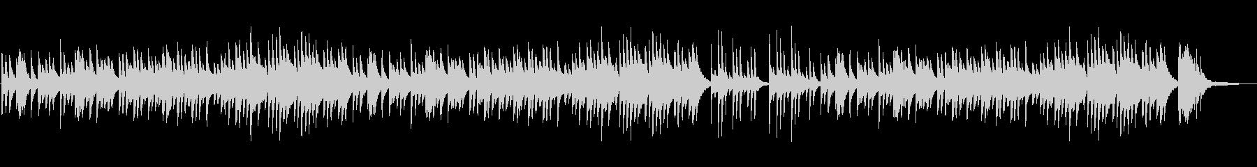ノスタルジックで和風なピアノBGMの未再生の波形