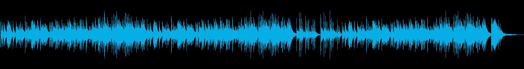 ノスタルジックで和風なピアノBGMの再生済みの波形