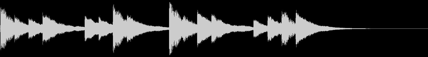 学校のベル(高音質_モノラル)の未再生の波形