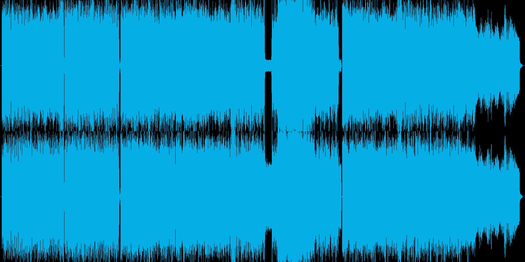北欧メタル。ブラストビート有りの再生済みの波形