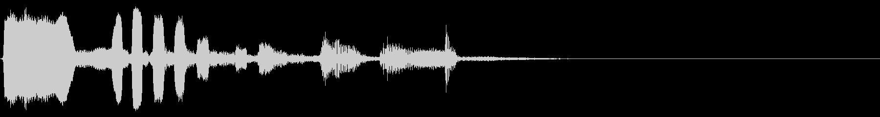 アコギとオカリナ生音のジングル1の未再生の波形