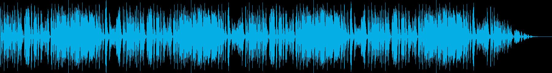 とぼけた感じで楽しそうなほのぼのBGMの再生済みの波形