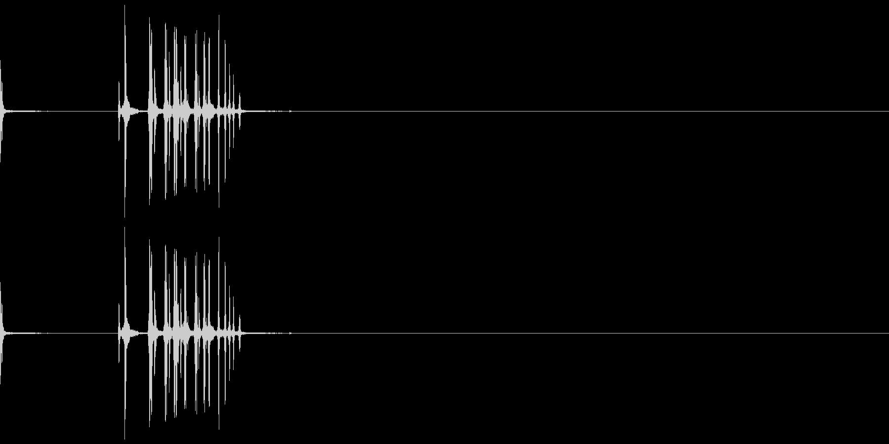 カッターナイフ12の未再生の波形