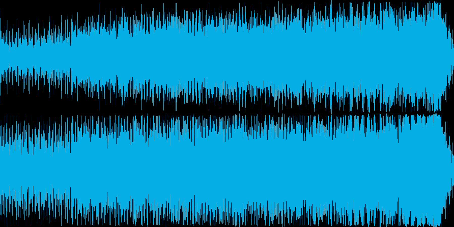 意欲や士気が高まりそうな曲の再生済みの波形