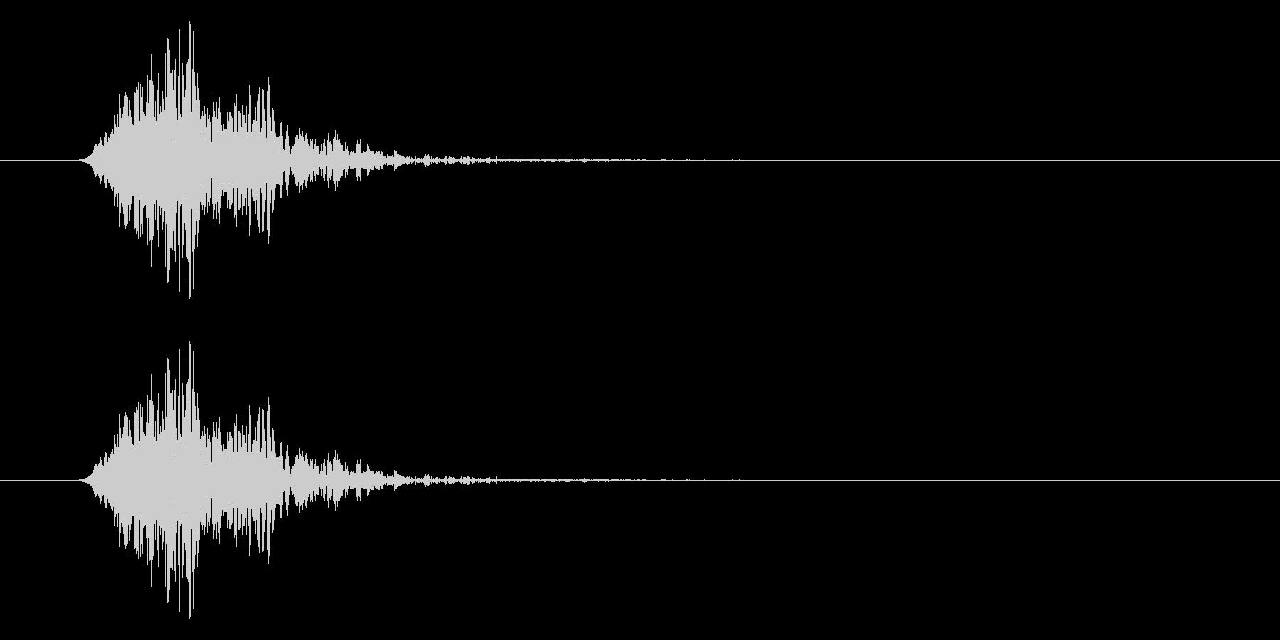 古いフラッシュ電球:Poofの未再生の波形