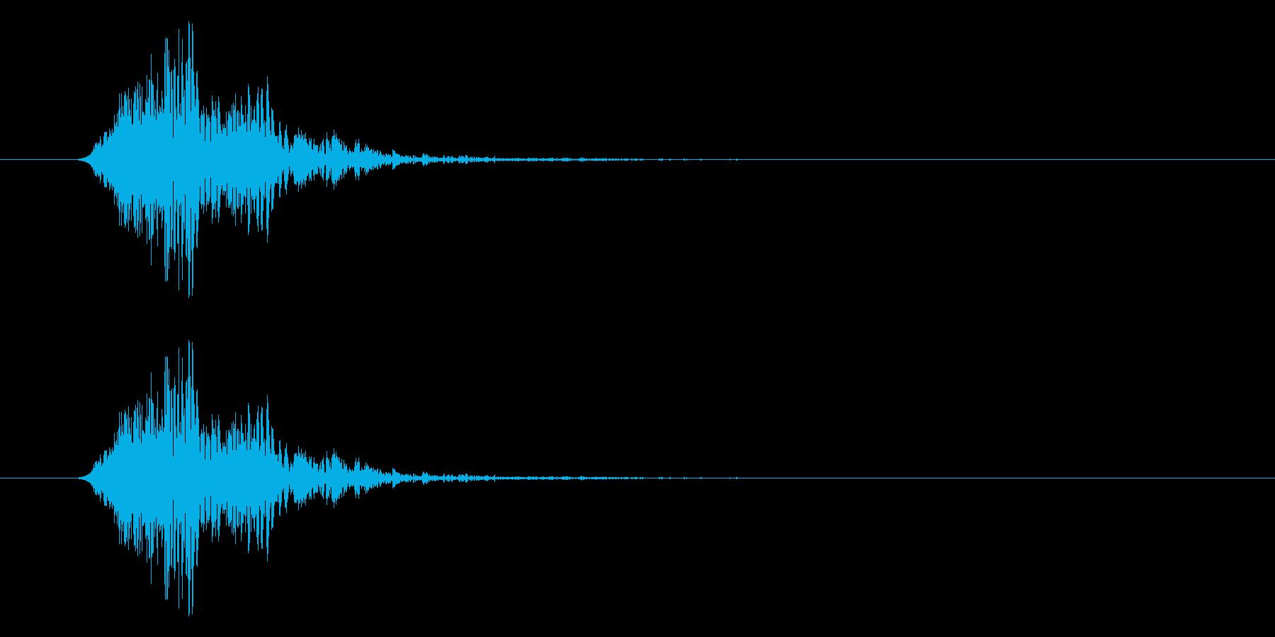 古いフラッシュ電球:Poofの再生済みの波形