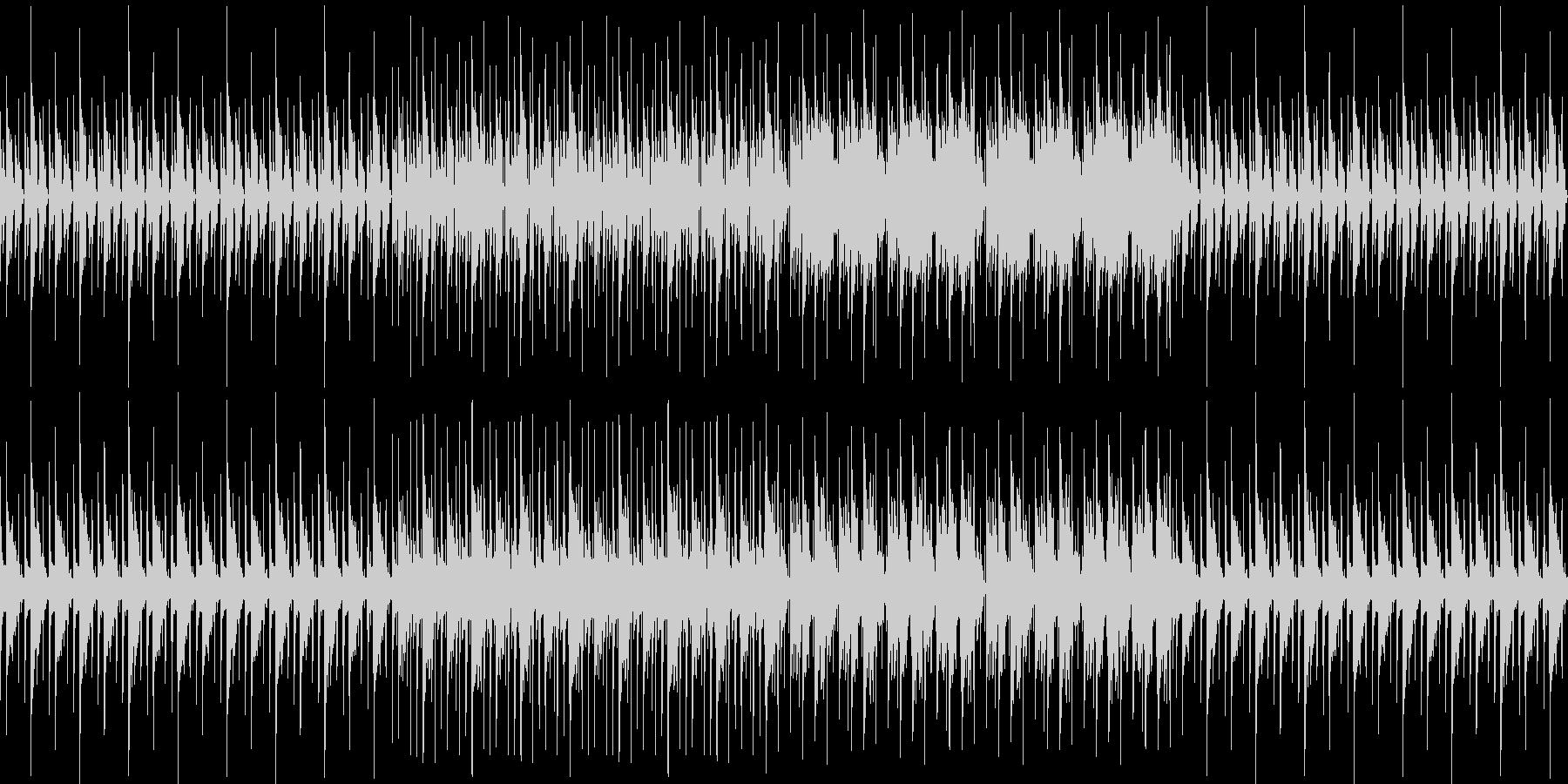ピコピコ可愛く静かなアンビエントの未再生の波形
