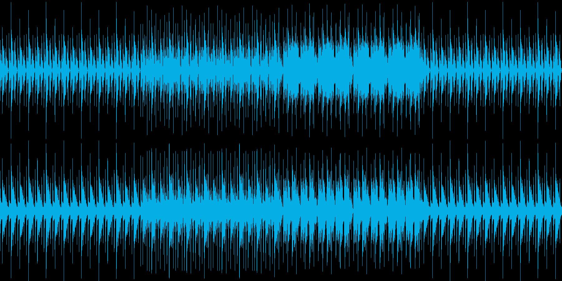 ピコピコ可愛く静かなアンビエントの再生済みの波形