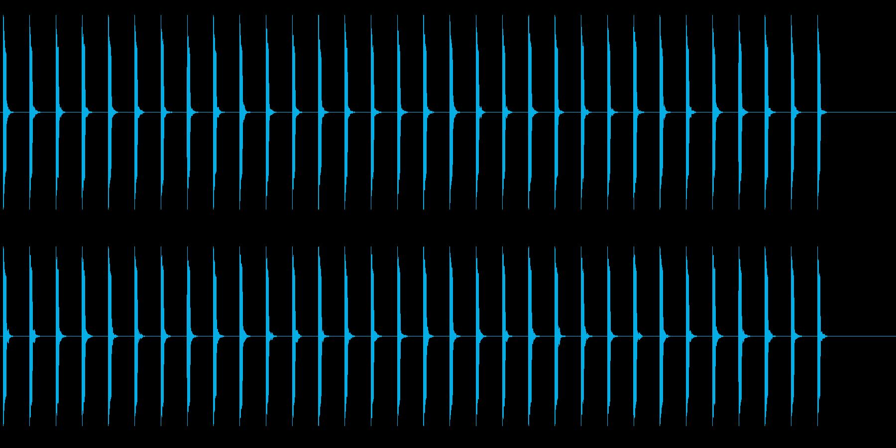 心電図の音-4-2(BPM50)の再生済みの波形