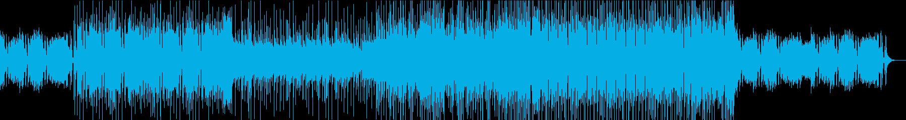 シンプルなピアノロックの再生済みの波形