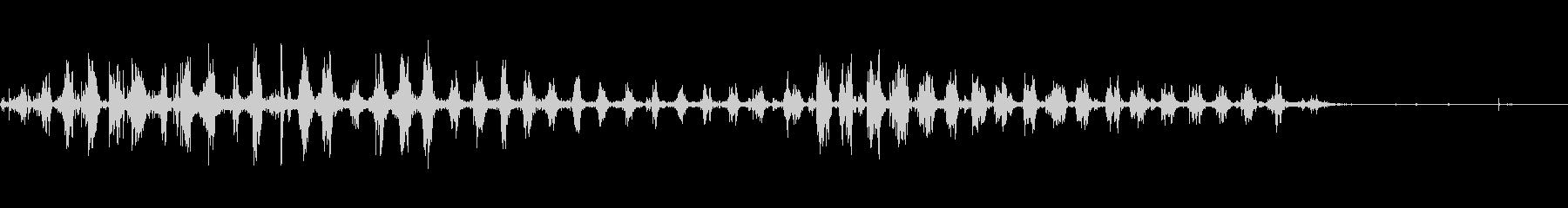 うなるピットブル犬の未再生の波形