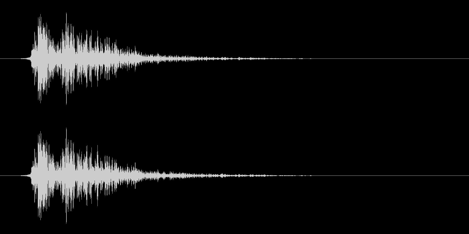 リアルな炎魔法の効果音_ステレオ版の未再生の波形