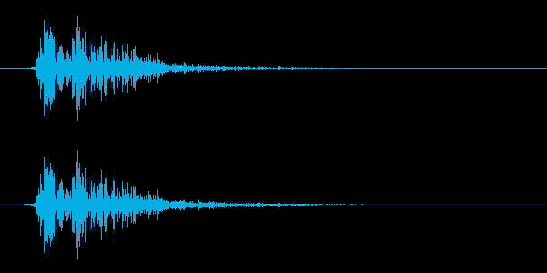 リアルな炎魔法の効果音_ステレオ版の再生済みの波形