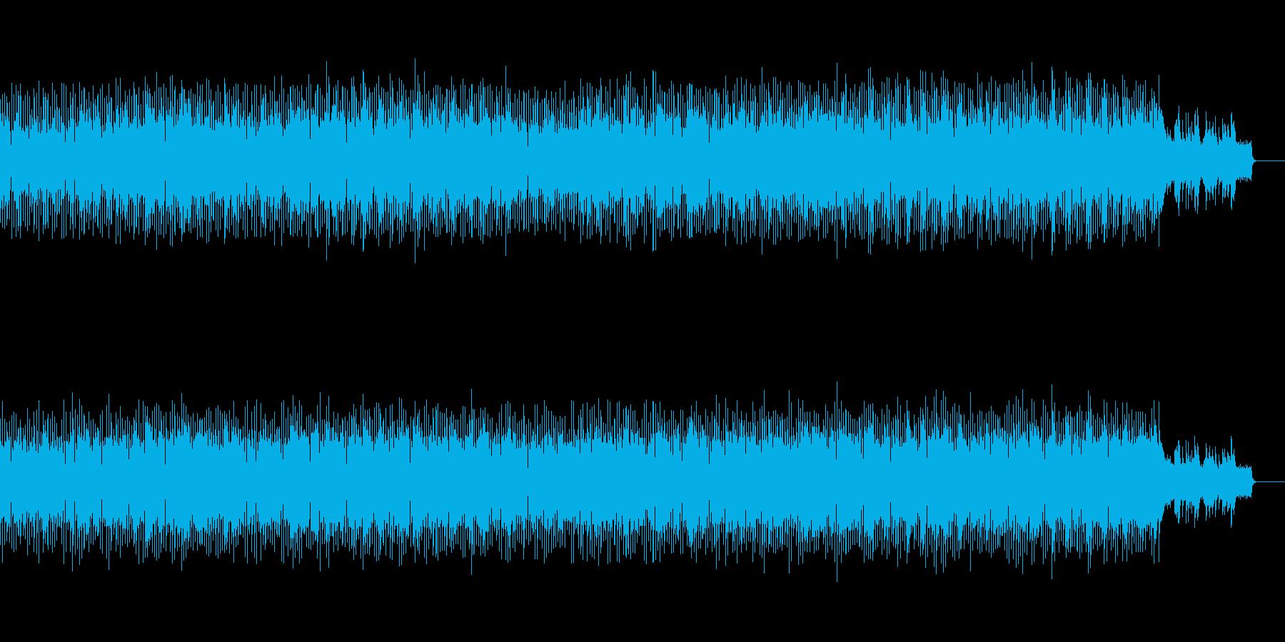 明るくてなめらかなメロディーの再生済みの波形