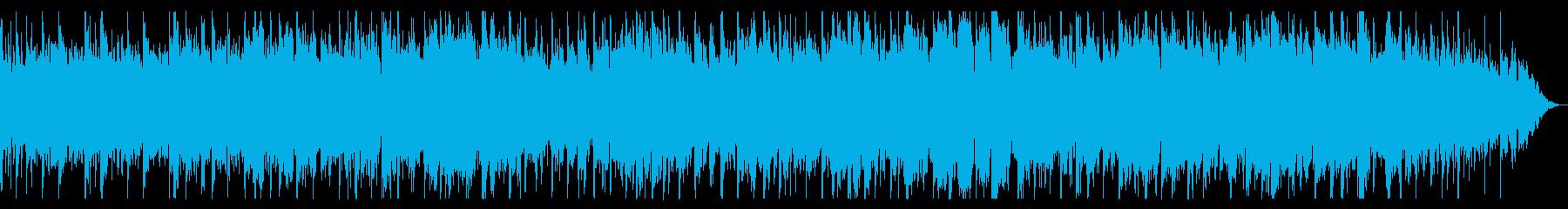 アンニュイな感じのシンセBGMの再生済みの波形