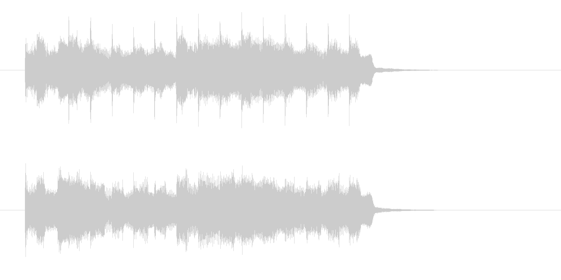 シンプルでクールなエレキジングルの未再生の波形
