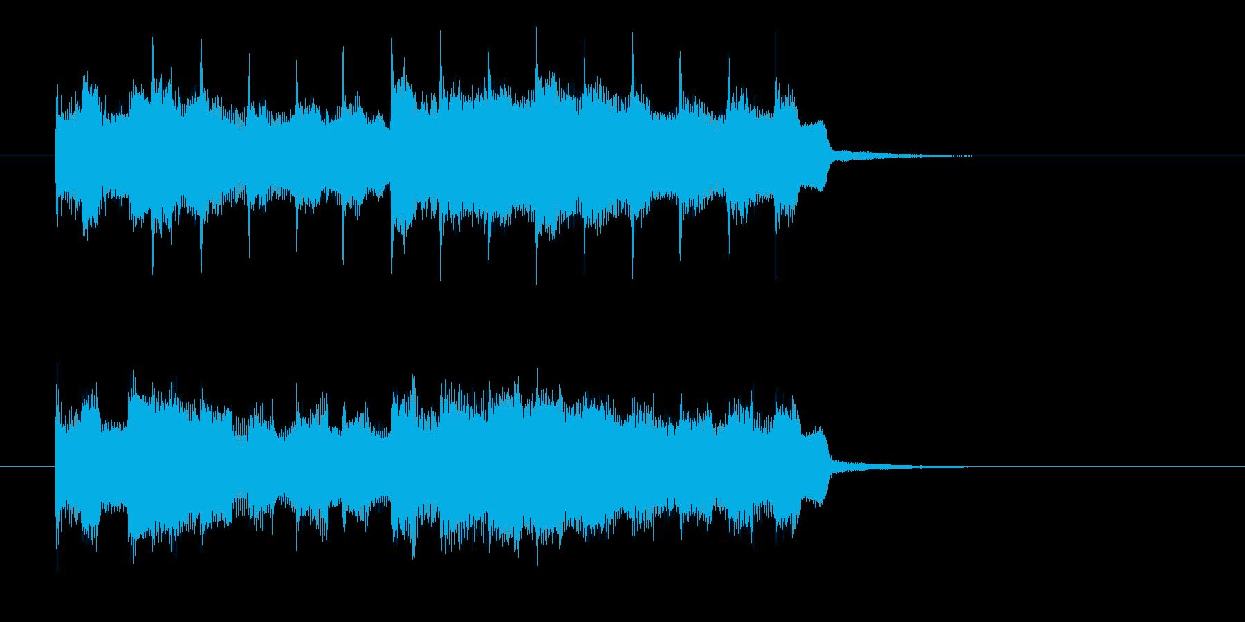 シンプルでクールなエレキジングルの再生済みの波形