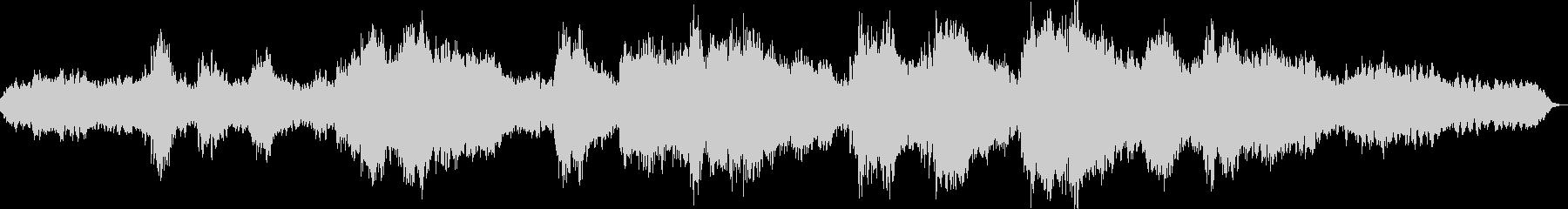 離れ小島を表現したシンセボイスの即興曲の未再生の波形