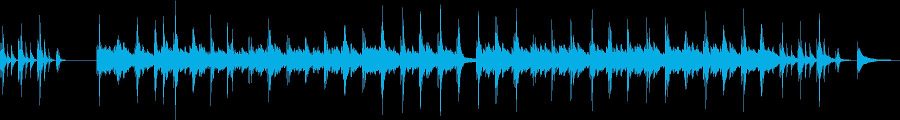 睡眠を促すヒーリングピアノの再生済みの波形