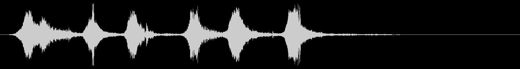 スーパーストック:非常に速い速度で...の未再生の波形