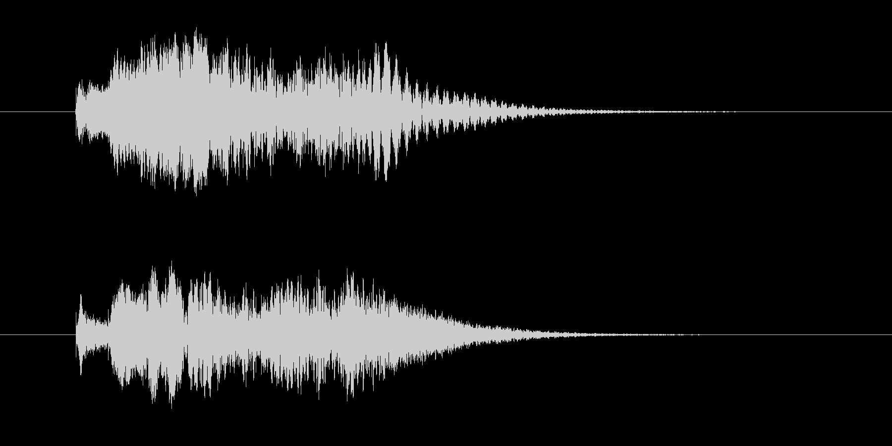 シロフォンのかわいい駆け上がる音の未再生の波形