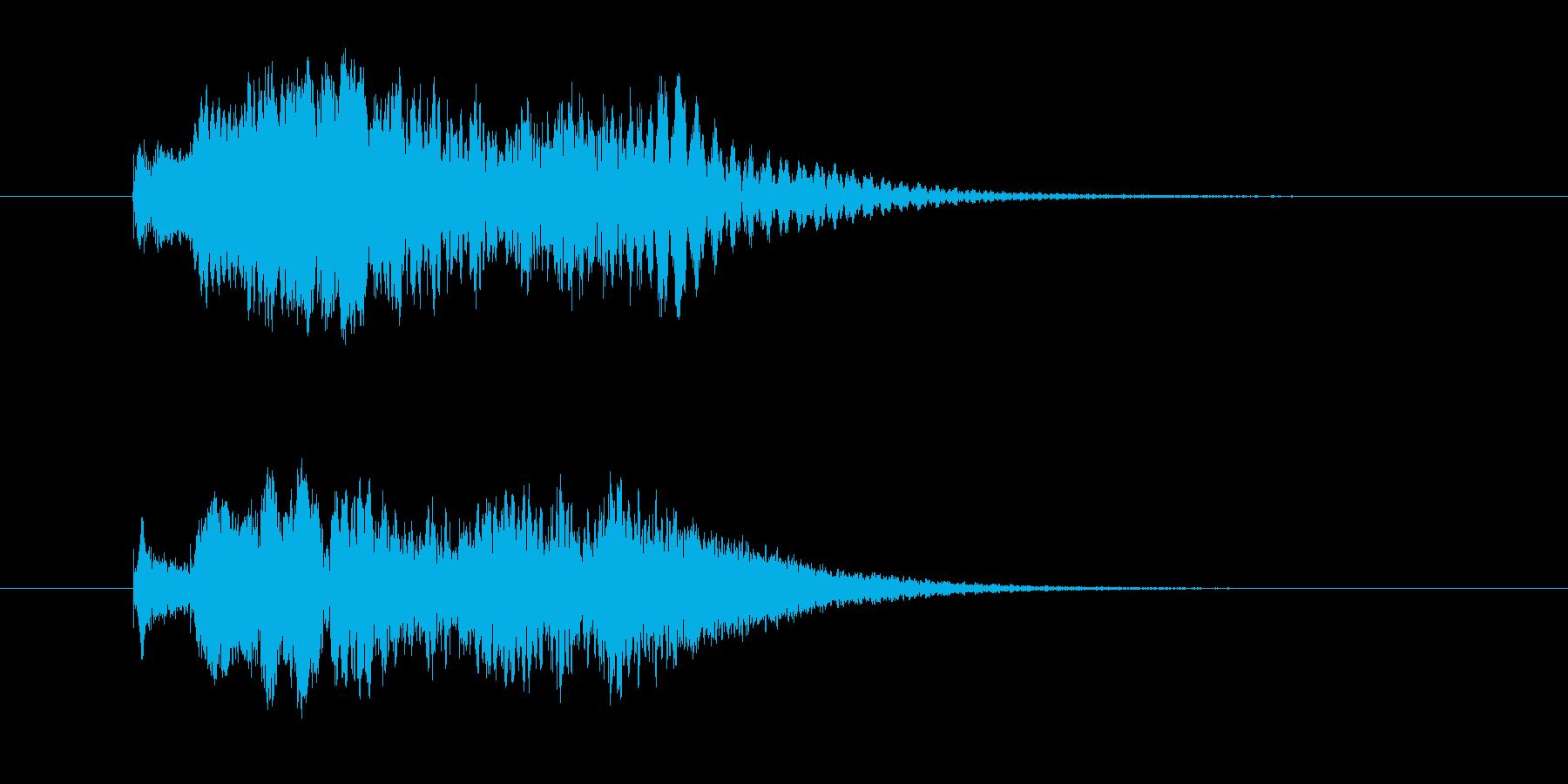 シロフォンのかわいい駆け上がる音の再生済みの波形