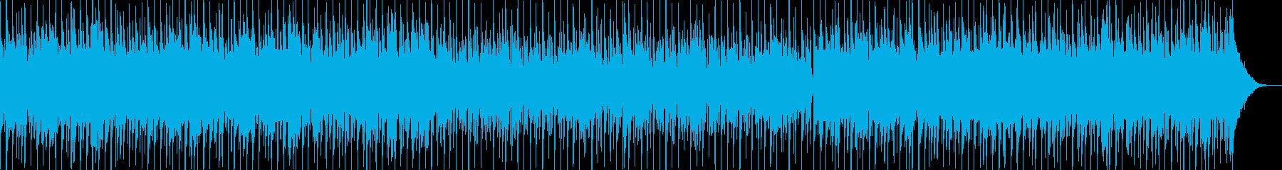【波の音付き】明るい穏やかな南国の海の再生済みの波形
