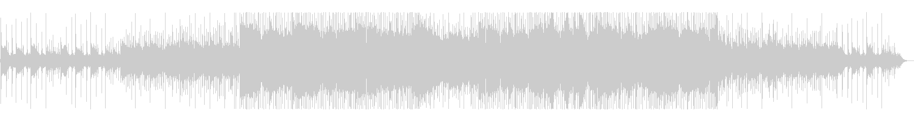 虫の声と切ないピアノのヒップホップ#02の未再生の波形