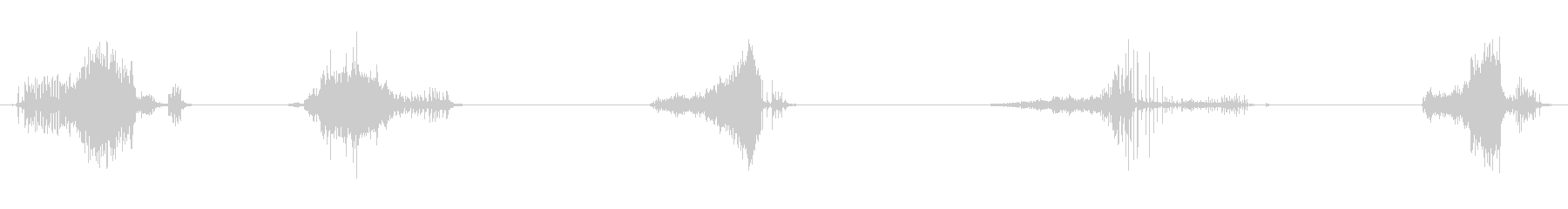 ジッパー、薄い、中程度の動きx5の未再生の波形