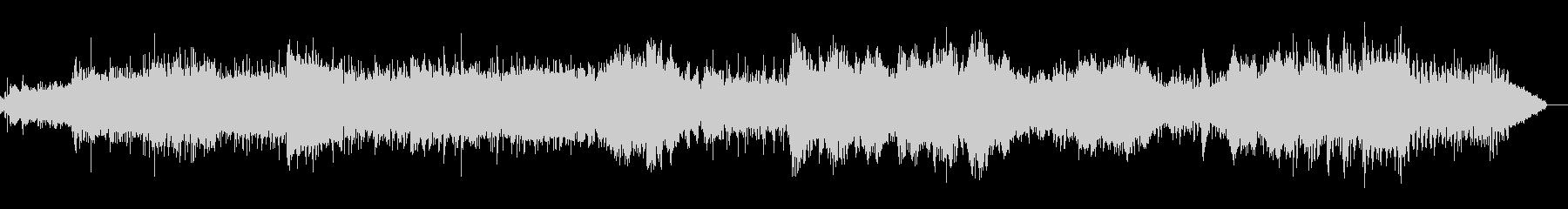 シンプルで調性のないシネマティックBGMの未再生の波形