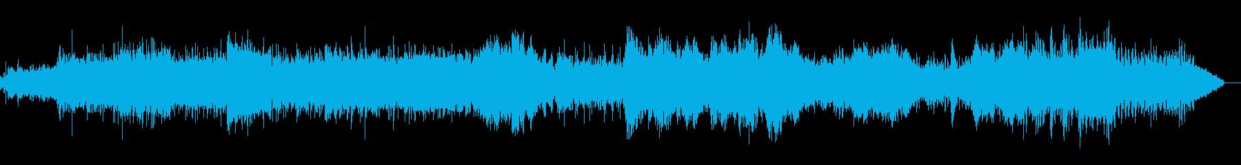 シンプルで調性のないシネマティックBGMの再生済みの波形