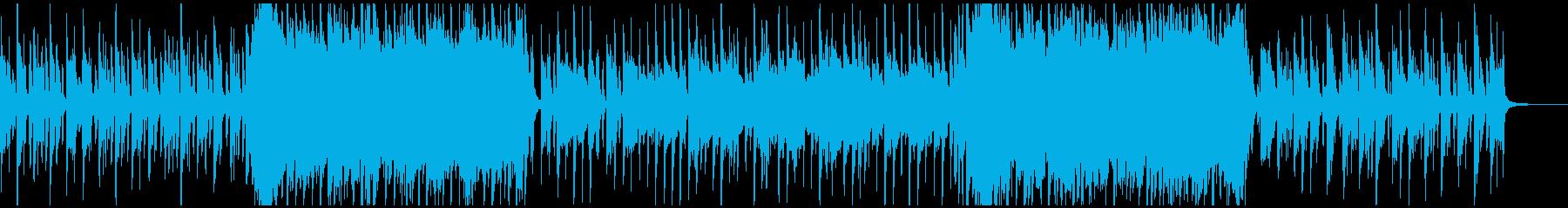 ミディアムテンポ、壮大な曲の再生済みの波形