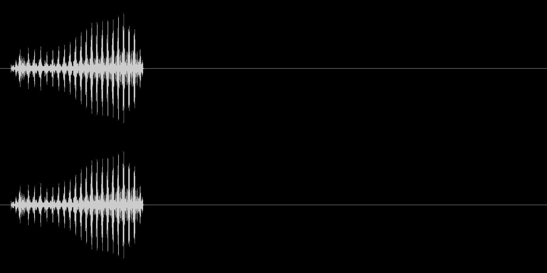 クリーチャーの発声などに 3の未再生の波形