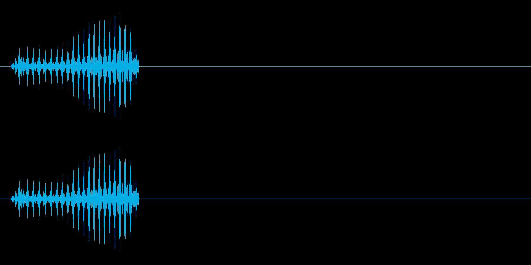 クリーチャーの発声などに 3の再生済みの波形