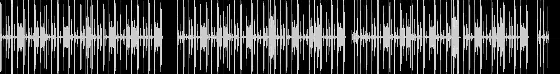 シンプルなリズムのchill hopの未再生の波形