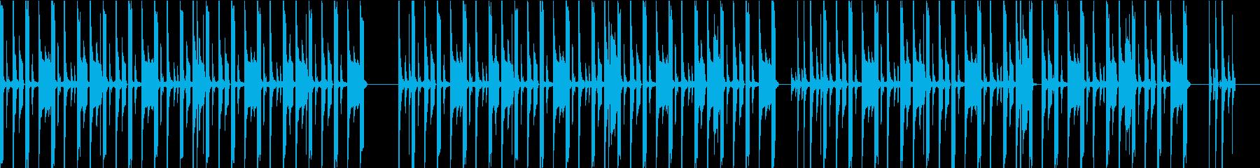 シンプルなリズムのchill hopの再生済みの波形