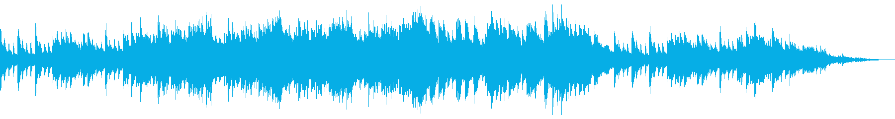 感動的なピアノとストリングスのBGMの再生済みの波形