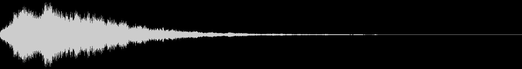 キラキラ輝く テロップ音 ボタン音04bの未再生の波形