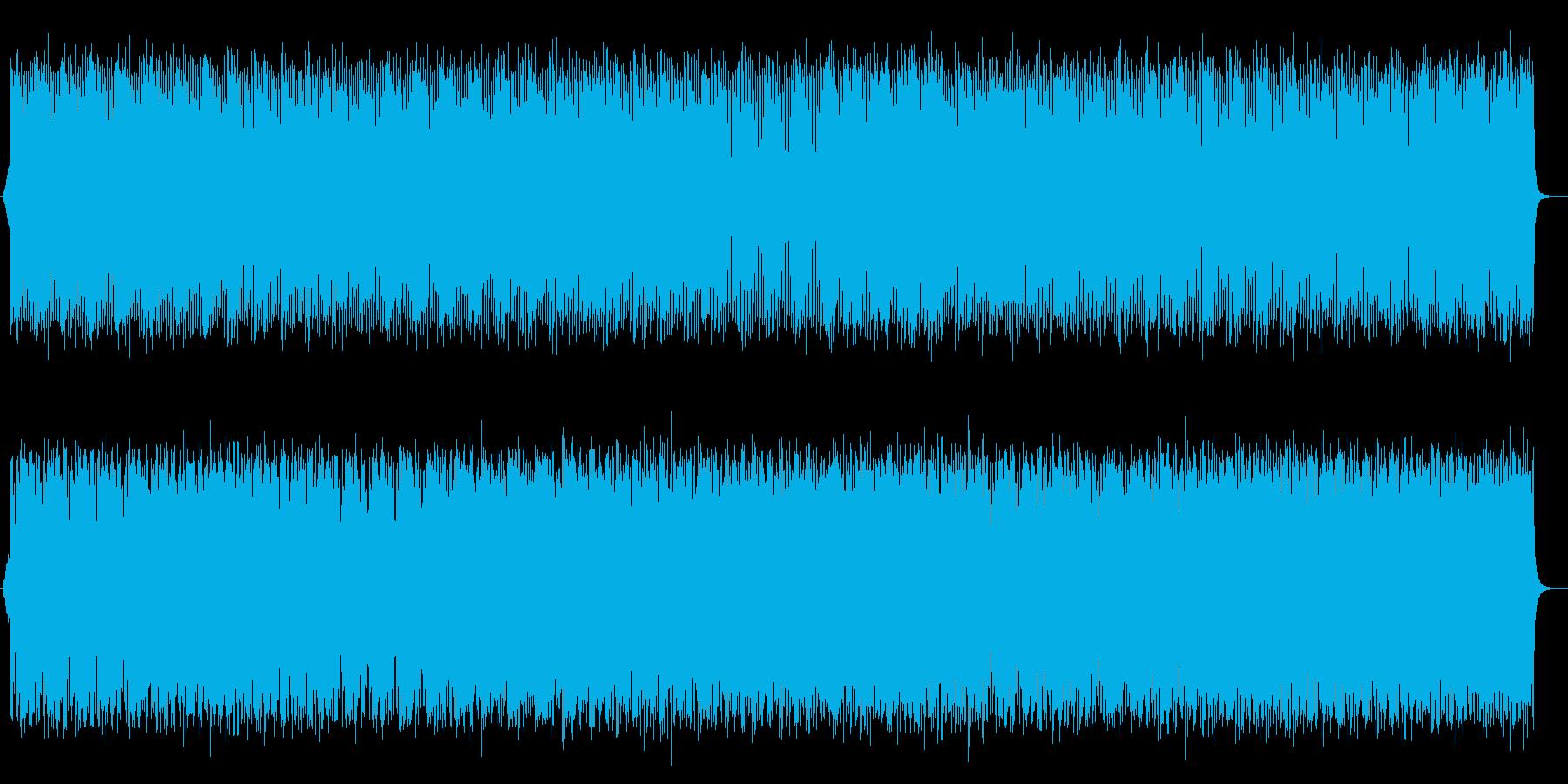 かっこよくリズミカルなミュージックの再生済みの波形