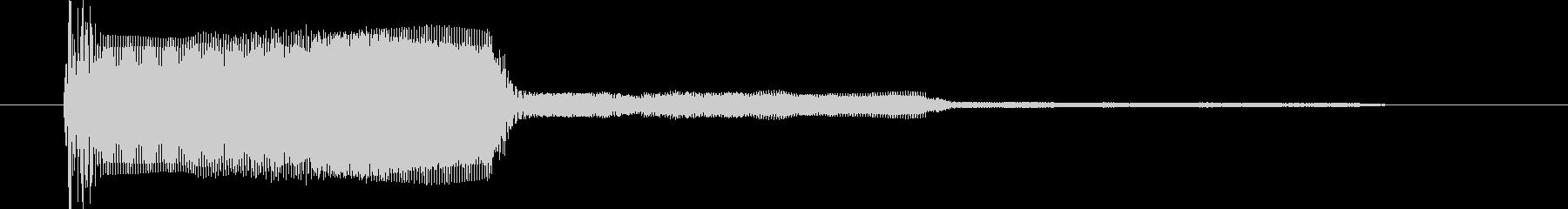 「プー」というシンプルなシグナル音です。の未再生の波形