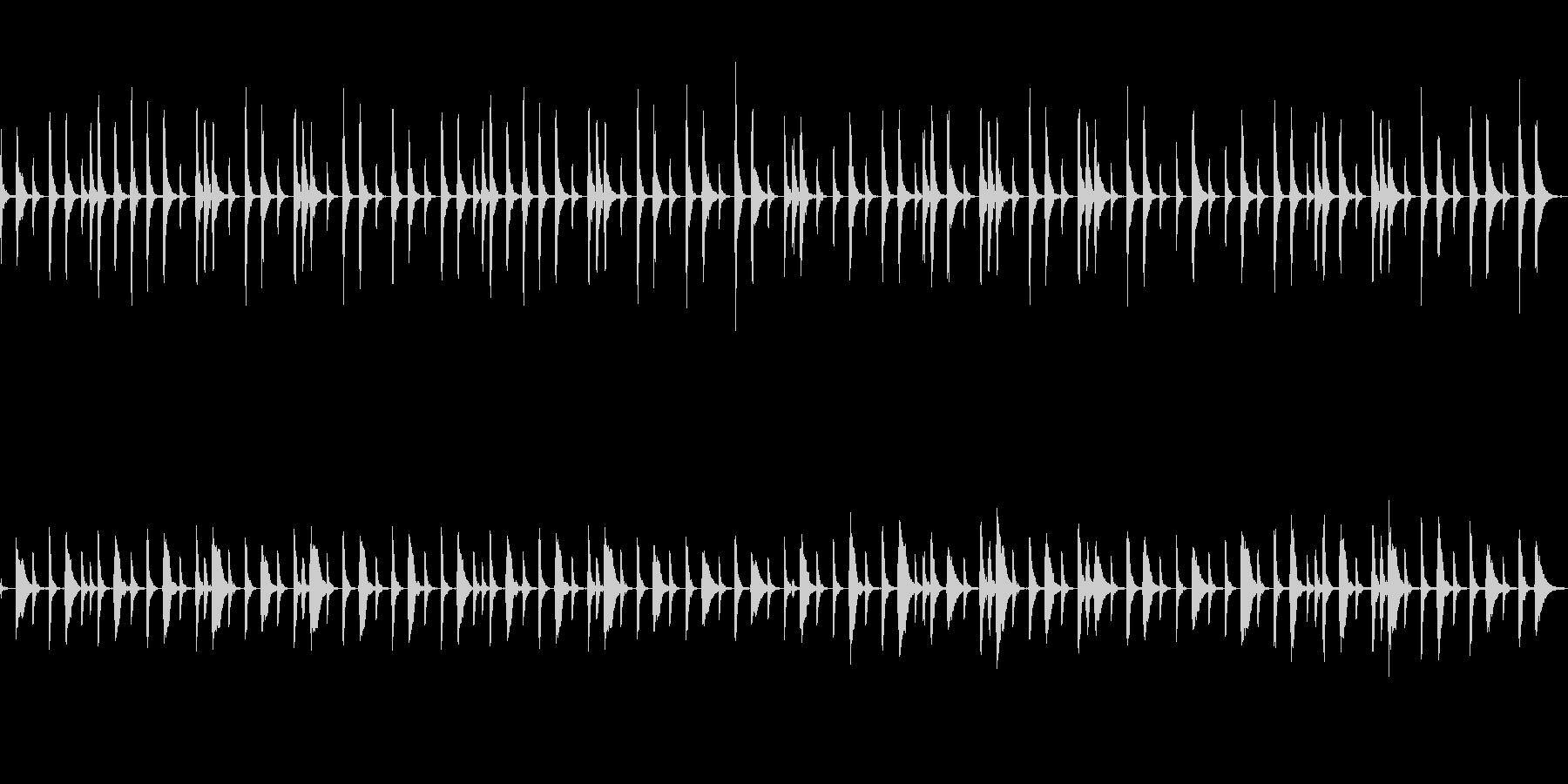 中世欧州で素朴なシーンのピチカート四重奏の未再生の波形