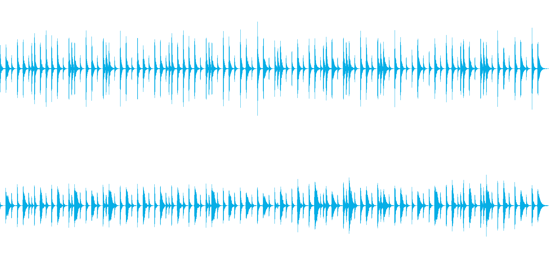 中世欧州で素朴なシーンのピチカート四重奏の再生済みの波形
