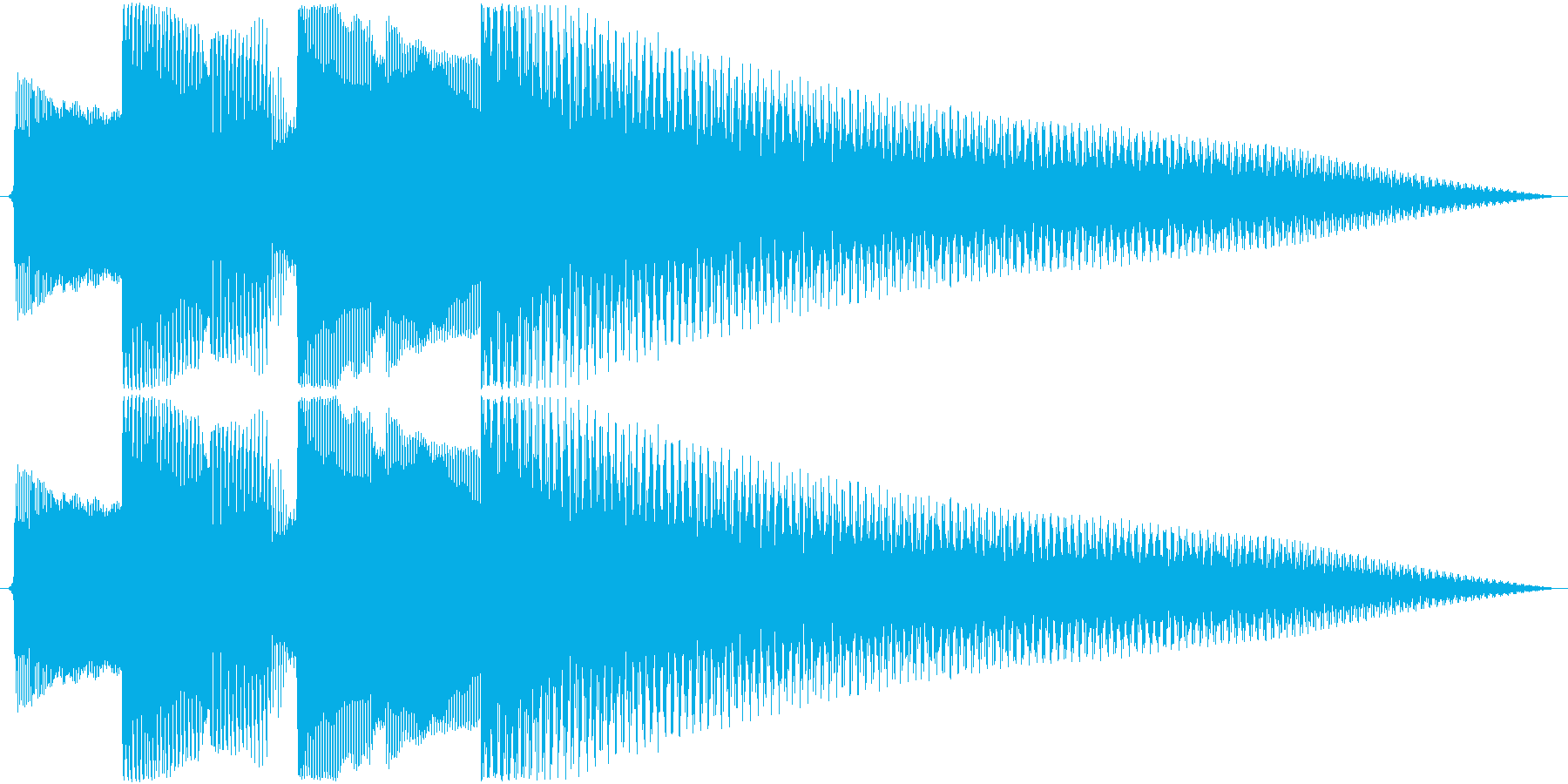 ジングル アルペジオギターAの再生済みの波形